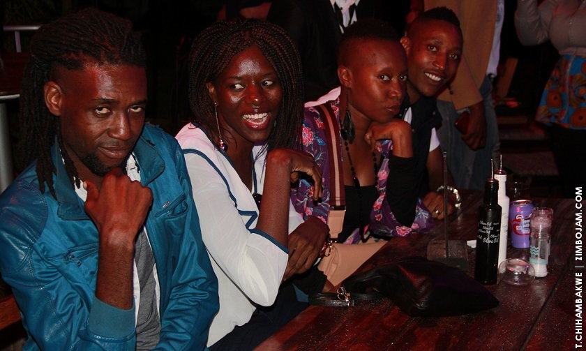Artists enjoying themselves at jazzics. PIC: T. CHIHAMBAKWE. | ZIMBOJAM.COM