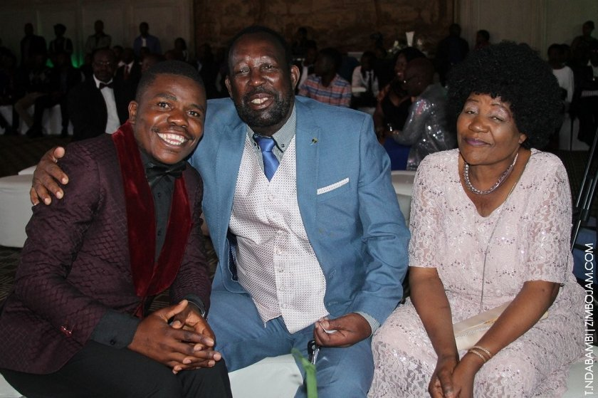 Comic Pastor with Zex Manatsa and his wife PIC: T. NDABAMBI | ZIMBOJAM.COM
