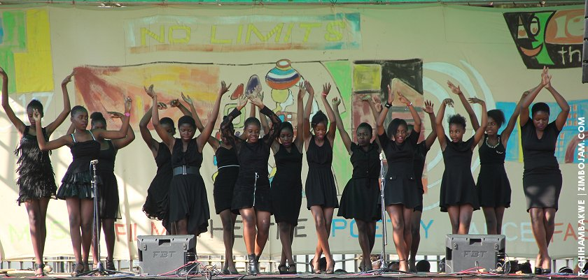 Girls High School students staging a salsa dance piece. PIC: T. CHIHAMBAKWE | ZIMBOJAM.COM