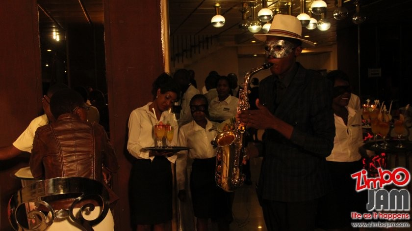 Guests were welcomed by some sweet sounds from Joseph on the sax.