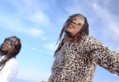 Jah Cure and Jah Prayzah in the video Angel-o