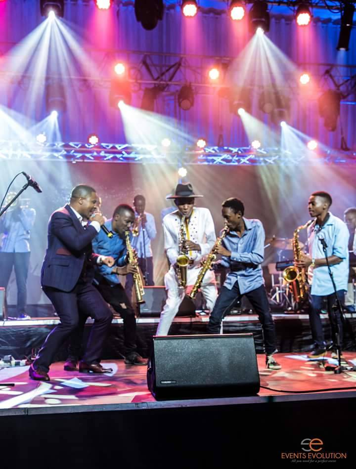 Capturing the moment, Magacha with the brass band PIC: EVENTS VOLUTION