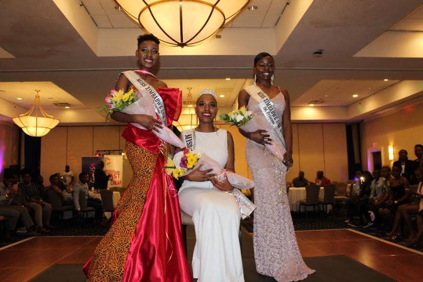 Miss Zimbabwe USA 2018, Paidamoyo Charlene Chituku (Center) with her two princesses Thembekile Mhlanga (2nd) and Laura Jamela (1st) PIC: COURTESY OF PATIENCE LUSENGO