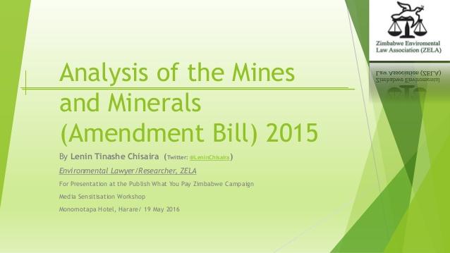 Calls for the repeal of Mines and Minerals Amendment Bill