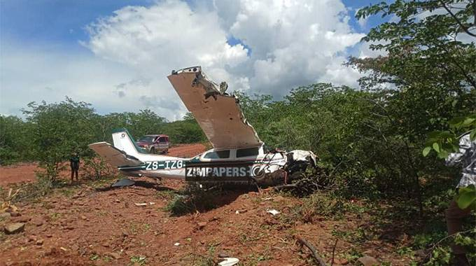 Four escape death as plane crash lands