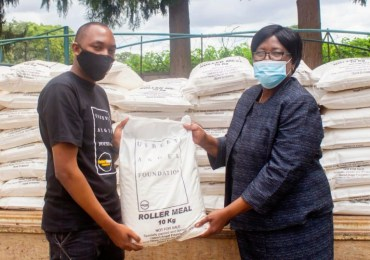 Uebert Angel donates 7 tonnes of maize-meal to charity run by First Lady
