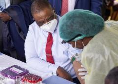 Zimbabwe Vice President Takes First Covid 19 Shot