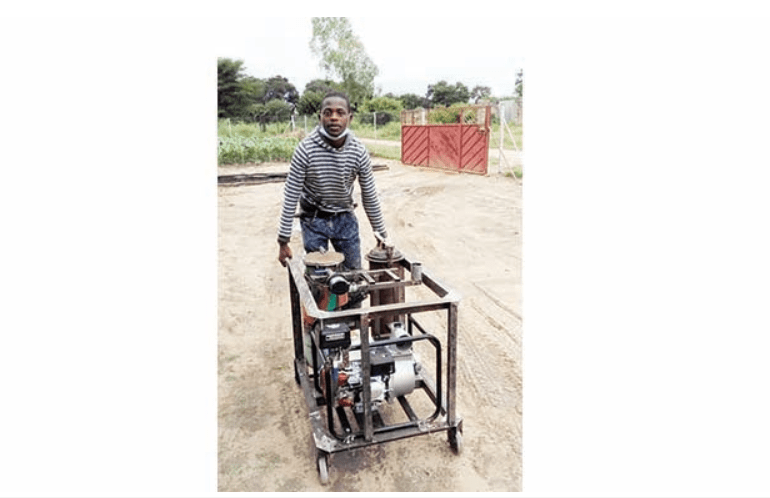 Nkayi youth designs biogas prototype machine