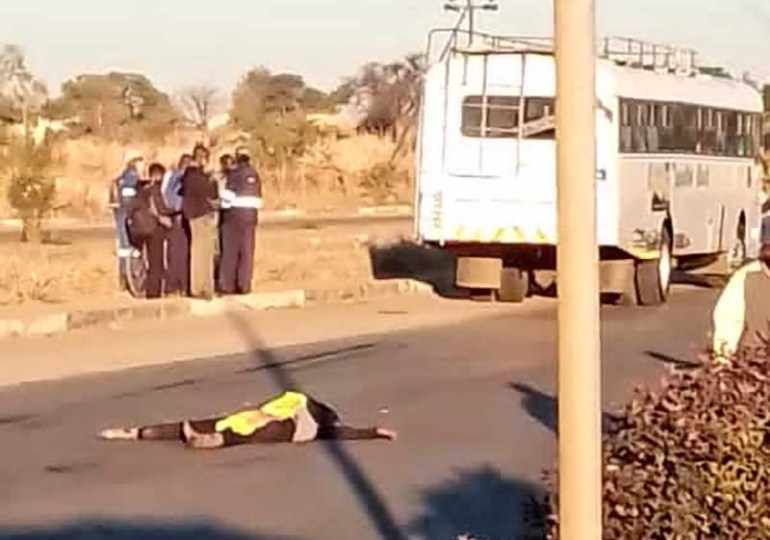 Female cop runover and dragged by bus at Bulawayo roadblock