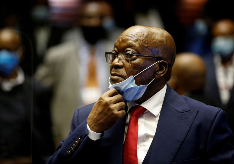 Ex-South African president Zuma turns himself in to begin 15-month jail time