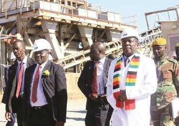 President Mnangagwa Re-opens Eureka Gold Mine