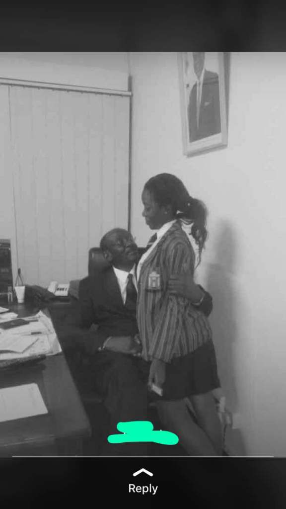 VP MOHADI OFFICE PHOTO WITH SCHOOL GIRL RAISES EYEBROWS