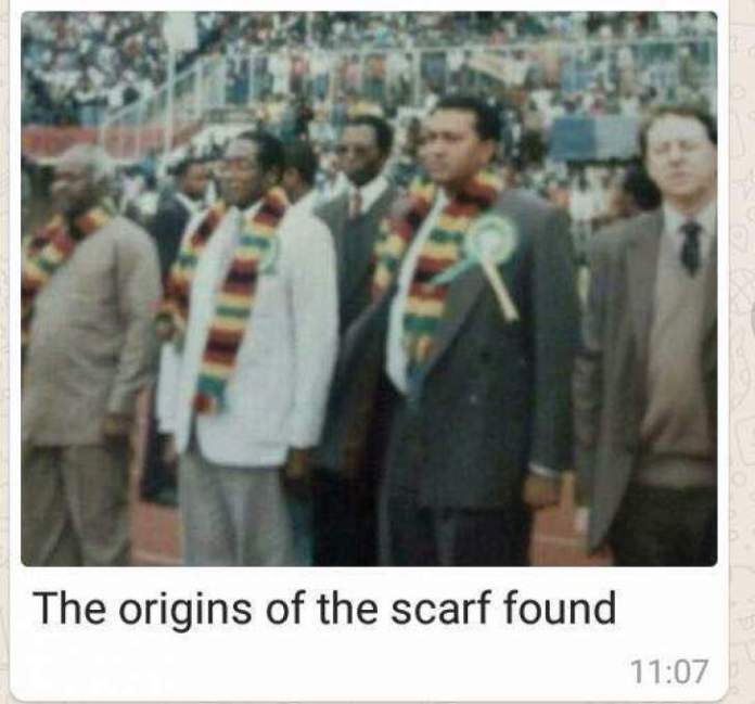 THE SECRET BEHIND MNANGAGWA'S FAMOUS SCARF