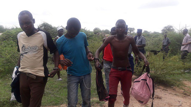 RESIDENTS CELEBRATE AS NOTORIOUS ROBBERS GANG IS CAPTURED