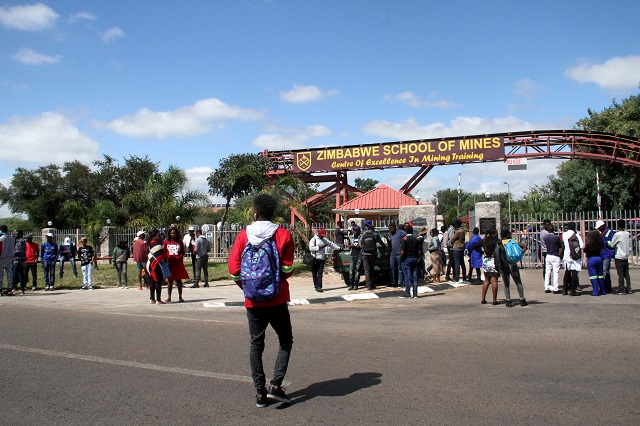 School Of Mines Students Demonstrate Over Fees Hike