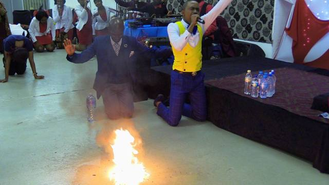 PROPHET TURNS WATER INTO PETROL LIVE IN SERVICE