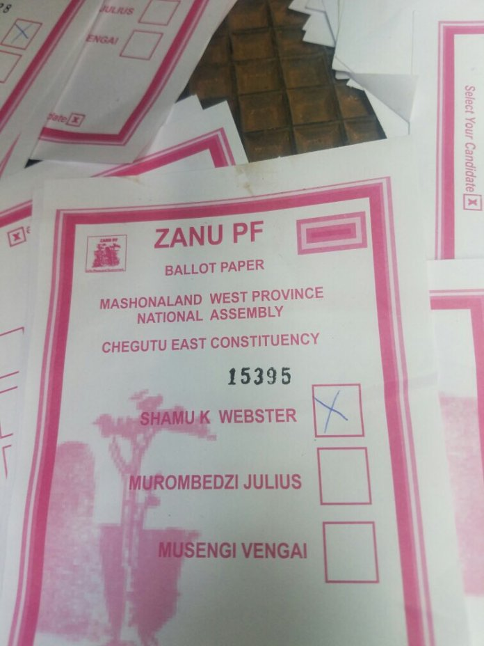 Webster Shamu Accused Of 'Rigging Elections' ,Busted With Signed Ballot Papers