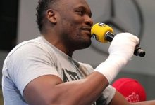 Photo of Chisora's retirement fight