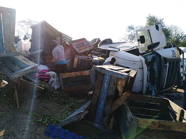TRUCK FULL OF BANANA'S CRUSHES, ONE FEARED DEAD