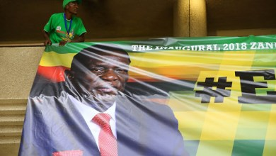 Photo of ED's posters defaced and pulled down in Marondera