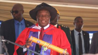 Photo of PRESIDENT MNANGAGWA HONOURED WITH 'HONORARY DOCTORATE OF LAW' BY UZ