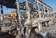 UPDATED: Bus catches fire, dozens feared dead