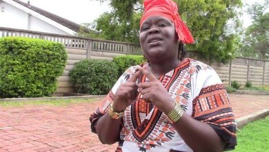 Photo of Linda Masarira on a recruitment mission for her party