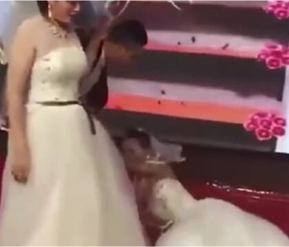 Chaos At Wedding As Ex Crashes Wedding Dressed As Bride