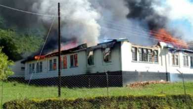 Photo of A Manicaland school gutted with fire: Pictures