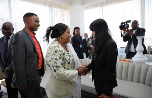 FIRST LADY IN NEW YORK, HONORED BY HARVARD