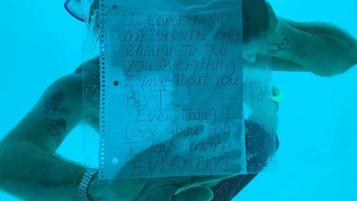 UNDERWATER PROPOSAL ENDS IN TRAGEDY