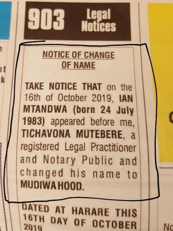 MUDIWA DUMPS REAL NAME