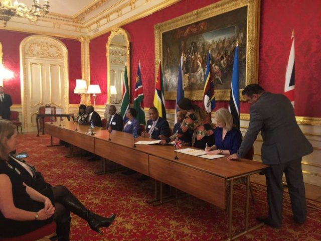 Zimbabwe Excluded As UK Signs Special Trade Deal with Southern African Customs Union Nations