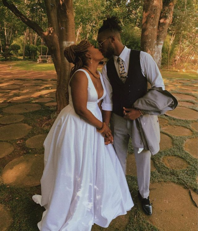 Lady Zamar pulls a shocker with a secret Wedding, weds her new Bae – Pictures