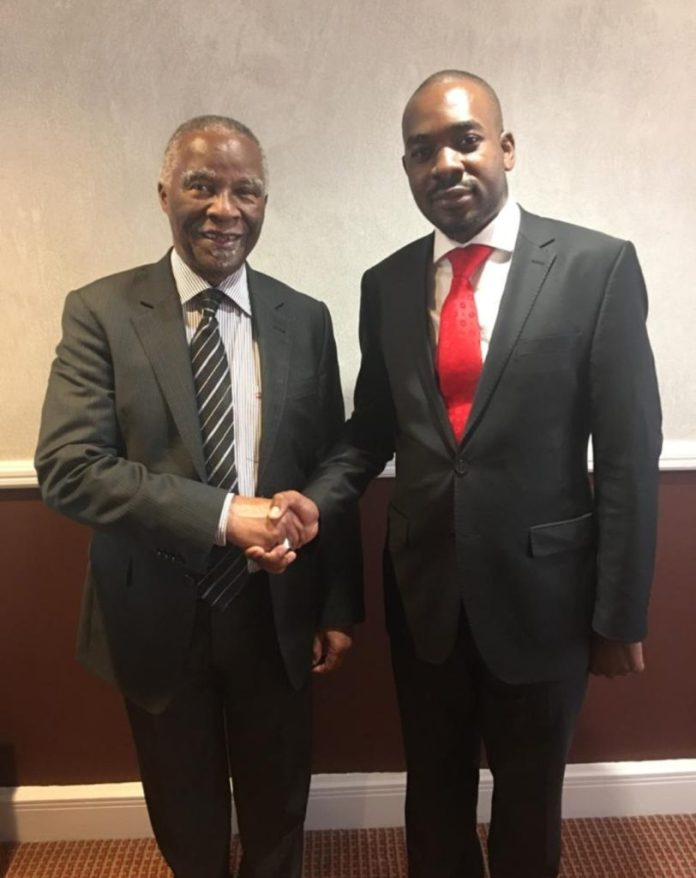 Mbeki Urges Chamisa To Accept Outcome Of 2018 Presidential Election