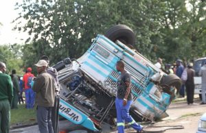 Speeding Bus Overturns Killing 2 In Harare, The Injured Taken To Hospitals Without Doctors