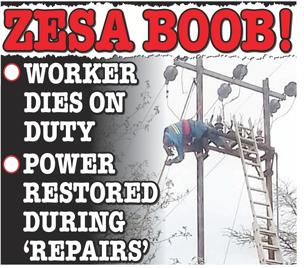 "ZESA BOOB! Power Restored During ""Repairs"",. . . employee electrocuted"