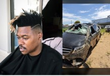 Mlindo The Vocalist involved in another horrific Car accident