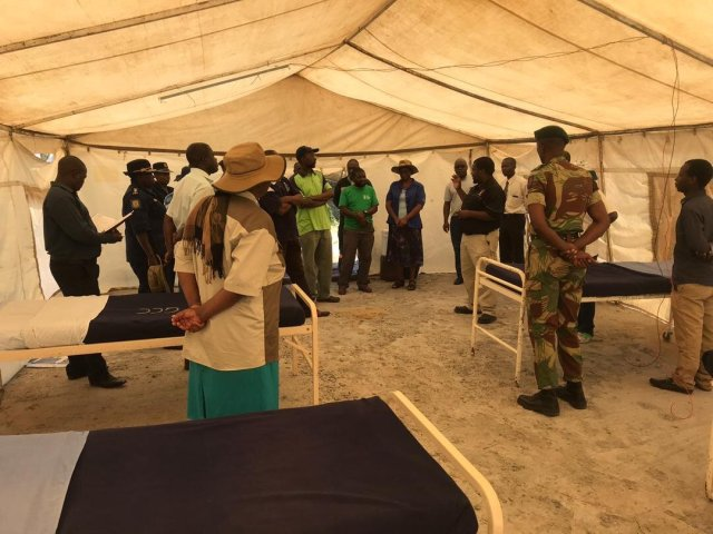 Gweru District Taskforce Inspect Temporary Isolation Centre For Coronavirus Patients