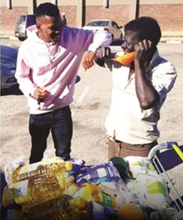 King98 living up to his name, Blesses Mukwamba with grocery worth $10 000