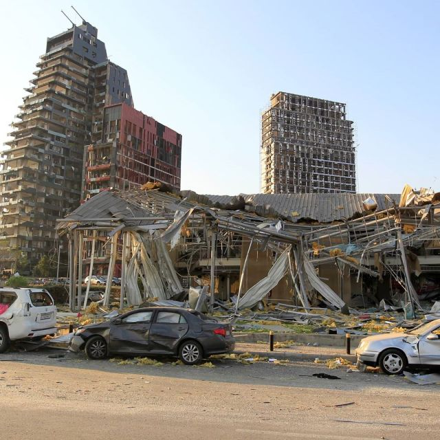 The Damage Caused By The Beirut Blast - Video