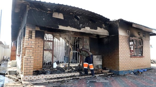 US$50 000 burnt in inferno