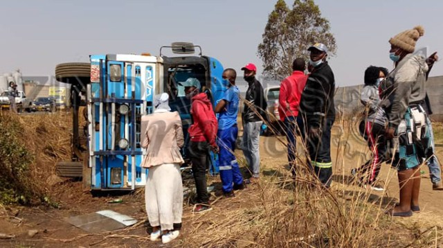 ZUPCO bus overturns, injures several passengers