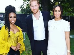 NOMZAMO MBATHA RUBS SHOULDERS WITH PRINCE HARRY AND MEGHAN