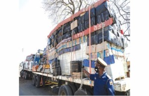 Zimbabwe Police Impound Bus With Smuggled Goods From South Africa