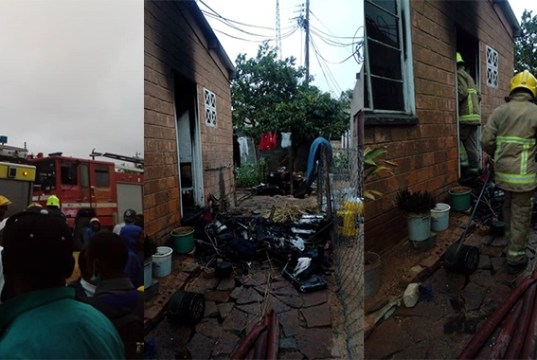 Man burns grandmother's house after accusing tenants of trying to steal it