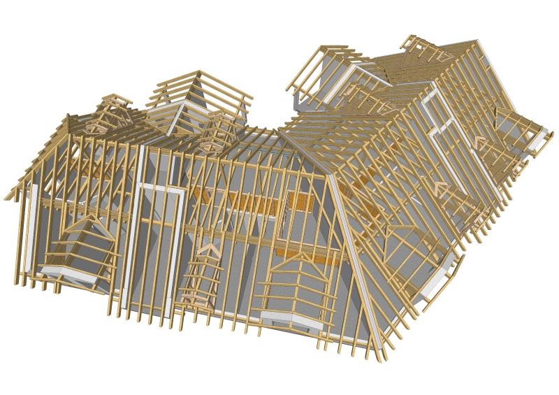 Konstruktion in 3D  Zimmerei Bertl