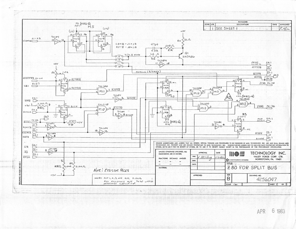 medium resolution of  co processor board for b series machines reverse engineered by ruud baltissen http ruud c64 org 8256043 01of14 left gif cbm ii lp schematic p1