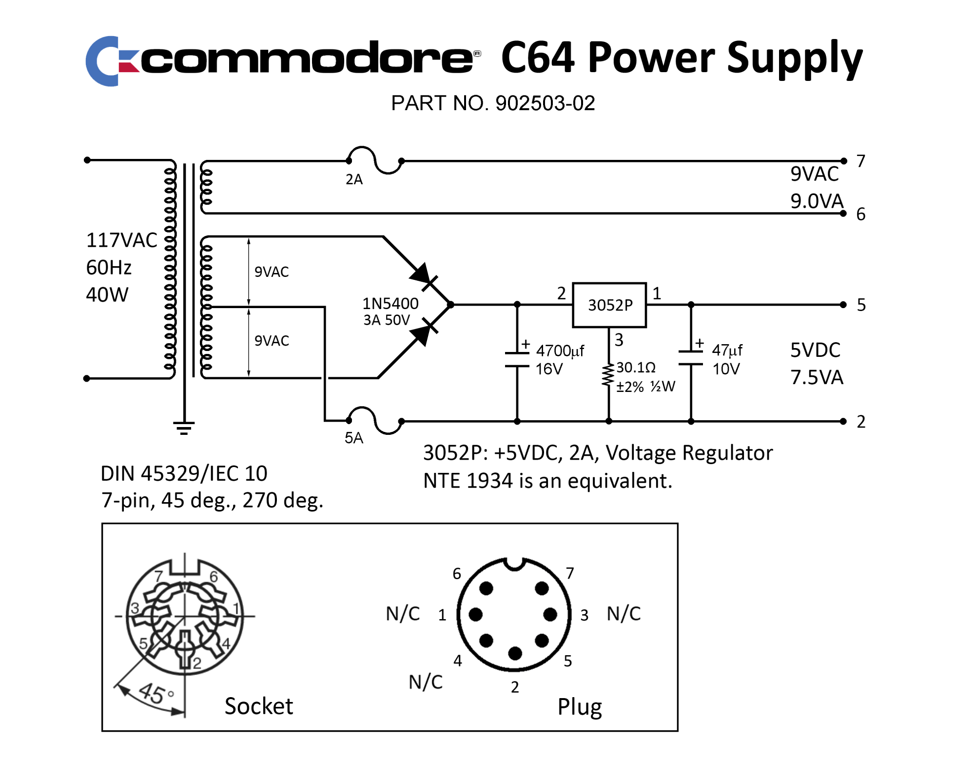 hight resolution of c64 external power supply 902503 02 png 2018 06 22 384569 ps schematic