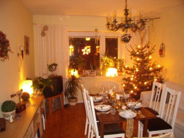 Weihnachtsdeko Mein Wohnzimmer  Meine kleine Wohnung  Zimmerschau